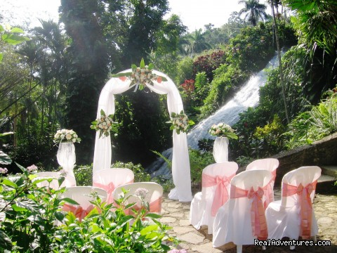 Botanical Waterfall Location - Tropical Weddings Jamaica