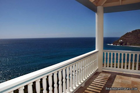 Balcony off the Rams Head Bedroom (#11 of 21) - Gorgeous, Ultra-Private Oceanside Villa