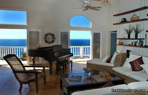 The Steinway in the Great Room (#9 of 21) - Gorgeous, Ultra-Private Oceanside Villa