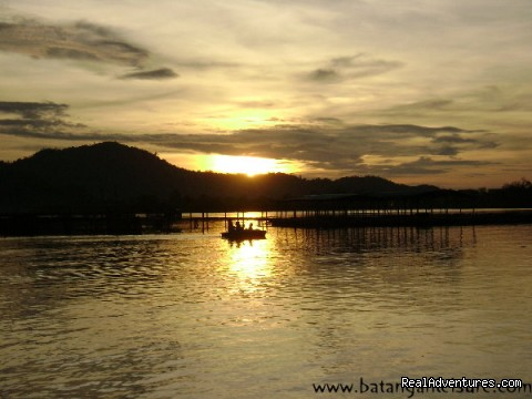 Sunset - Mengkabong Water Village Mangrove River Cruise