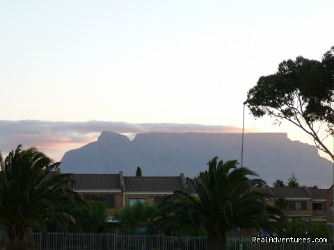 Table Mountain from balcony - Cape Town,Blouberg/Table View