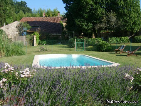 The Swimming pool - French Cycle Vacations at Les Croisettes, France