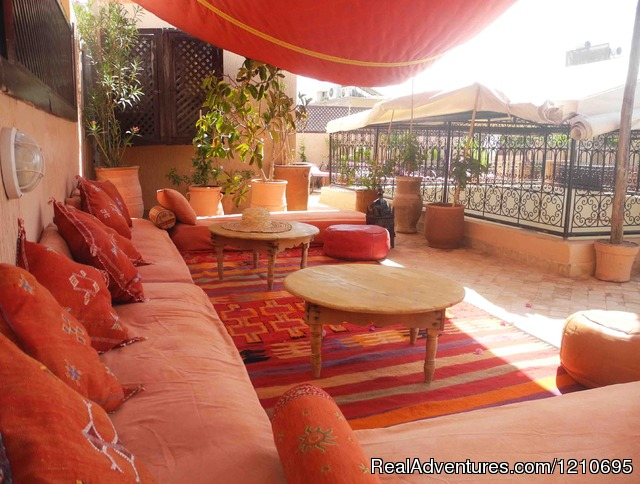 Roof Top Terrace. - Beautiful  Riad in Marrakech Medina