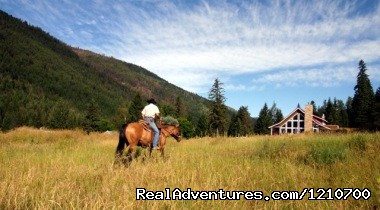 Riding Through The Meadow - Guest / Dude Ranch in British Columbia, Canada