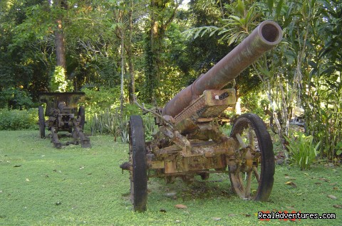 Japanese WWII machine gun, Guadalcanal Is (#12 of 14) - Villagestay & Trekking in Solomon Islands.