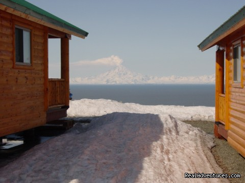 Mt. Redoubt volcano (#2 of 6) - Cabins on the Bluff