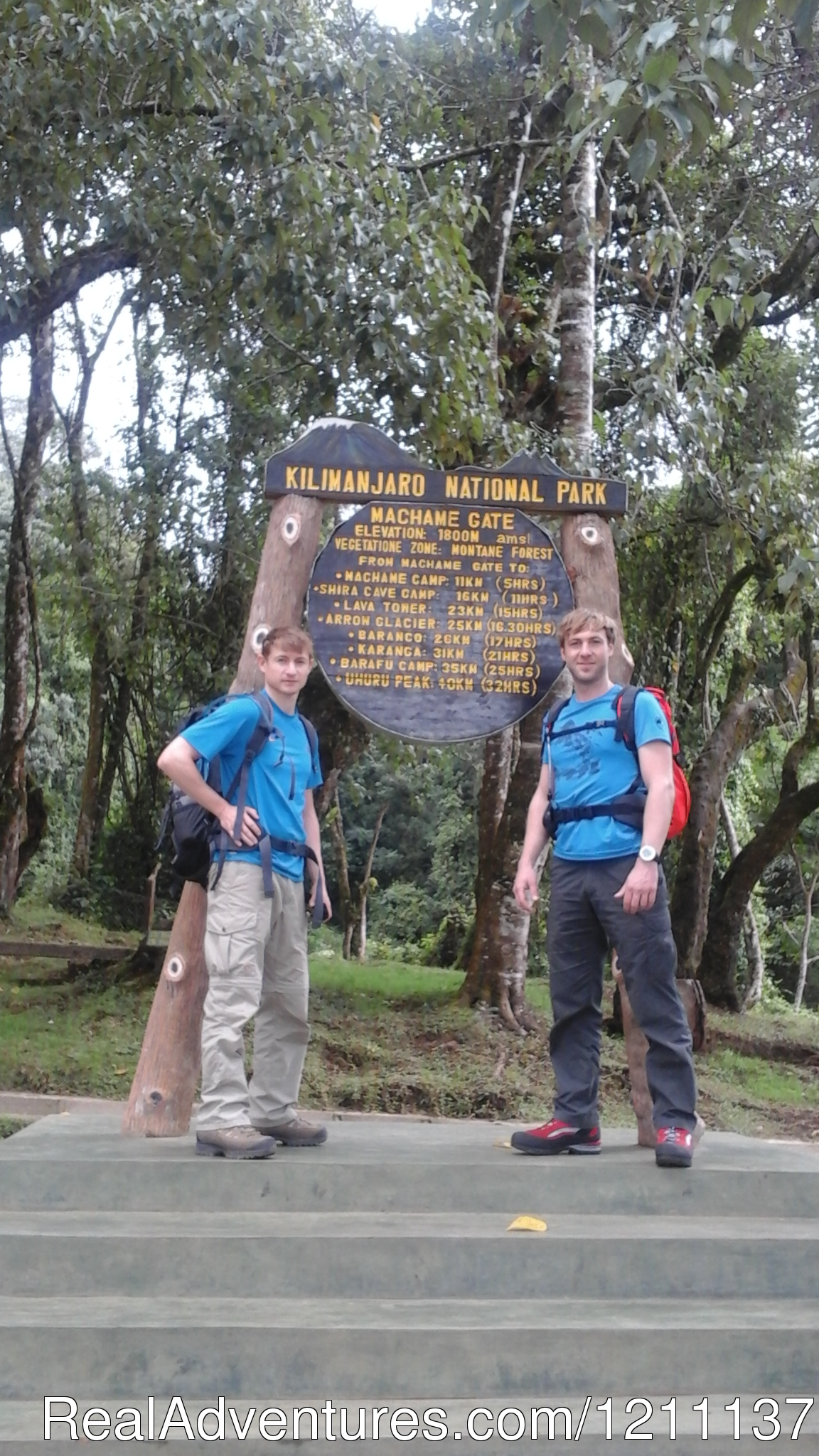 Machame Route 7 days climbing