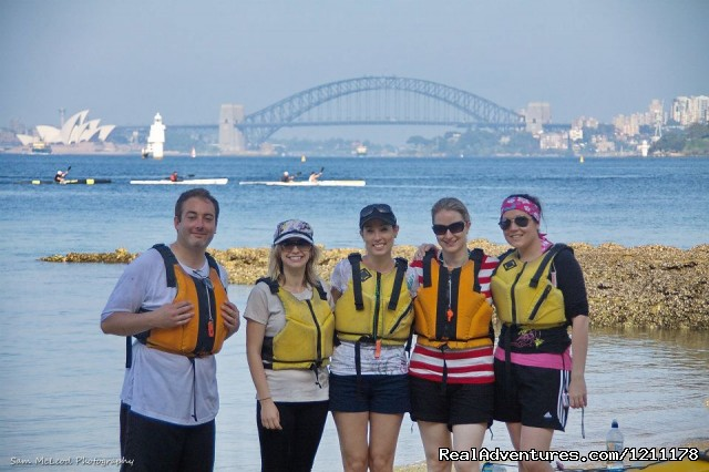 Lunch stop - Kayaking Sydney Harbour Bridge Lunch Tour