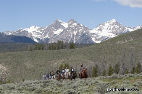 Horseback Riding on the Ranch - Idaho Rocky Mountain Ranch