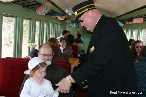 Conductor Norris - Green Mountain Railroad- Route of the Flyers