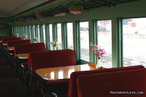 Dining Car - Green Mountain Railroad- Route of the Flyers