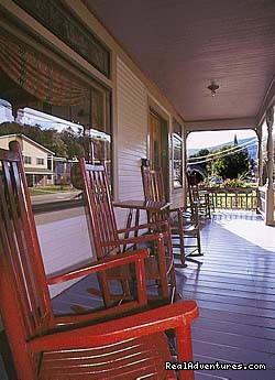 The Governor's Inn: The Governor's Inn, Ludlow, Vermont - Front Porch Rockers