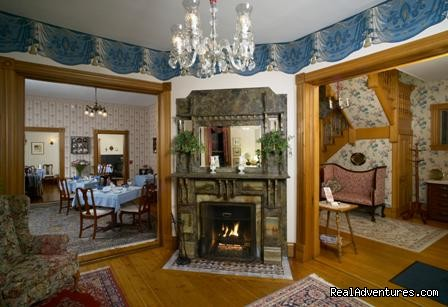 The Governor's Inn, Ludlow, Vermont - Parlor Fireplace - The Governor's Inn