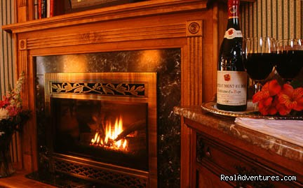 The Governor's Inn, Ludlow, Vermont - Relax by our fireplace - The Governor's Inn