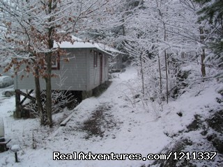 Winter wonderland - The Woods Lodge, a Great Getaway any size Group