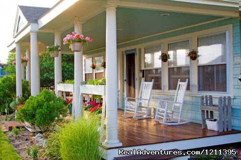Our Rocking chair front porch - Inn at Lewis Bay - A Romantic B&B by the Sea