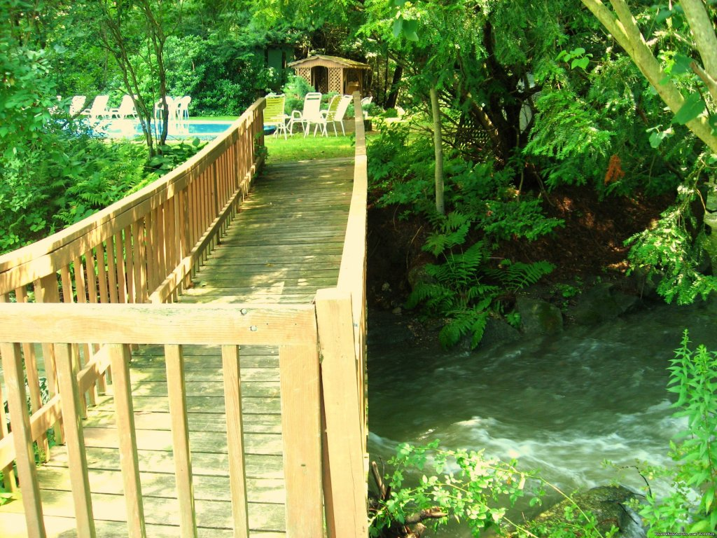 Cross the bridge to the Pool | Image #8/8 | Many Adventurous Options at Berkshire Hills Motel