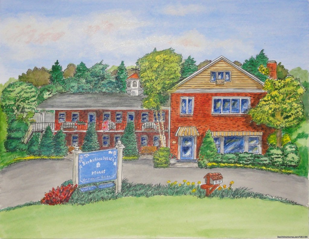 A guest's painting of Berkshire Hills Motel | Image #5/8 | Many Adventurous Options at Berkshire Hills Motel