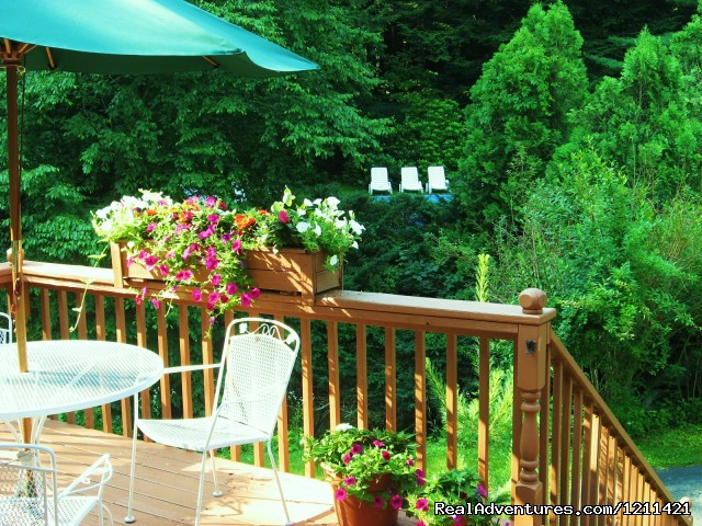 Enjoy breakfast on the Deck - Many Adventurous Options at Berkshire Hills Motel