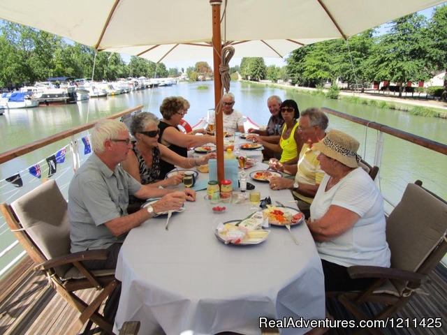 Lunch in Castelsarrasin - Barge Cruise in France, Holland & Germany.