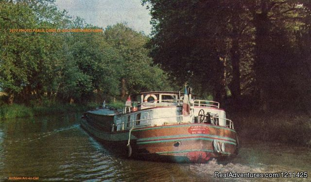 'easyvie' as the commercial barge 'Christian' in 1975. - Barge Cruise in France, Holland & Germany.