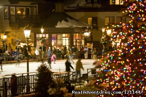 Ice rink outside your door - Post Montane Lodge