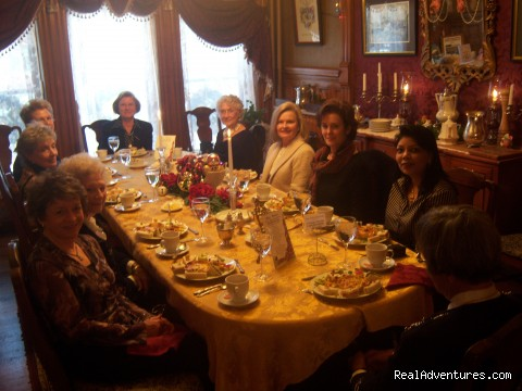 Tea in the Dining Room at the Castle Marne in Denver, CO - Historic Victorian Castle Marne Bed & Breakfast