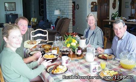 Breakfast with guests from Alabama (#8 of 9) - Craig Ranch Bed & Breakfast & Horse Motel