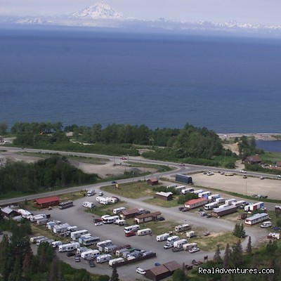 Aerial view of the RV park and Cook Inlet (#4 of 15) - Alaskan Angler RV Resort, Cabins & Charters
