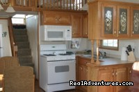 Interior of fully furnished cabins - Alaskan Angler RV Resort, Cabins & Charters