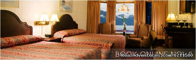 Your gateway to Alaska, the historic Hotel Seward: Cozy Viewing rooms