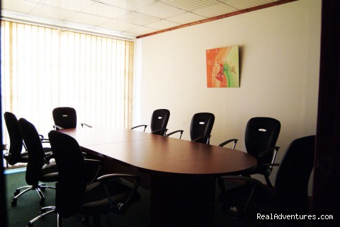 Board room with video confrencing - Serviced Offices In Kampala