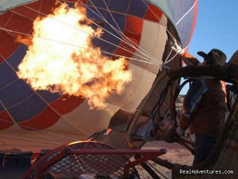 Hot Air Balloon Flights with Santa Fe Balloons.: Going Hot!