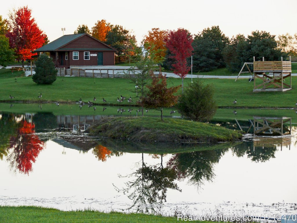 Bunkhouse and pond | Image #4/17 | Relax at Pine Ridge Retreat & Lodging
