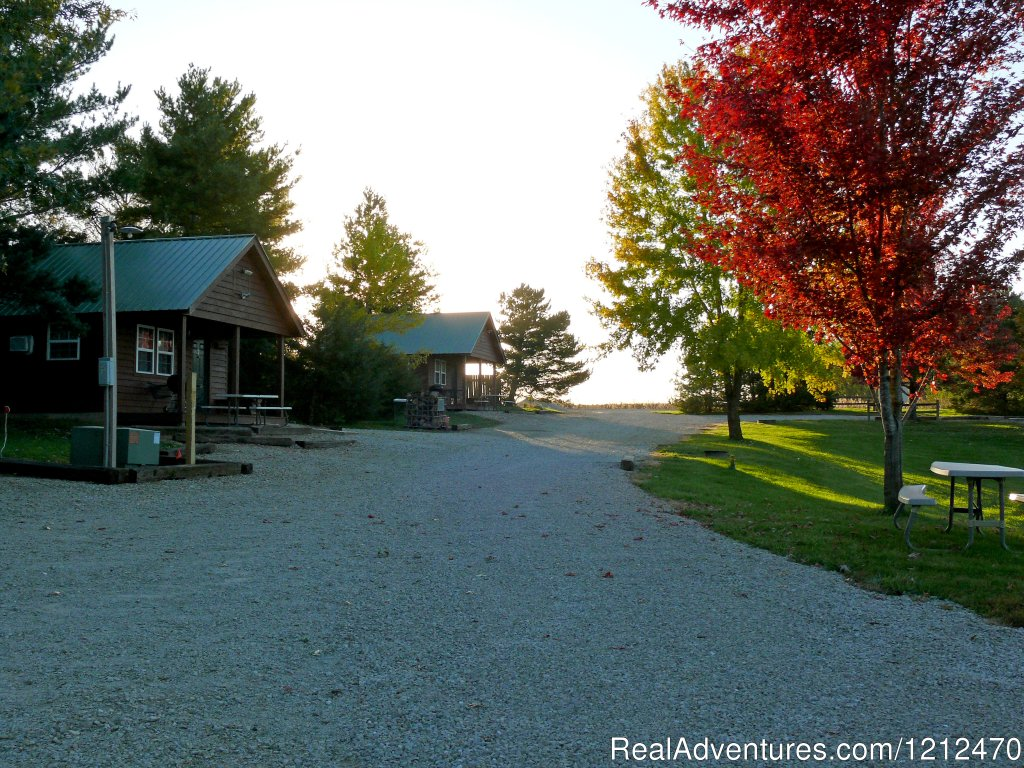 Cabins 1 and 2 in fall | Image #2/17 | Relax at Pine Ridge Retreat & Lodging