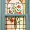 MacIntosh Window - Cala Lillies and Roses
