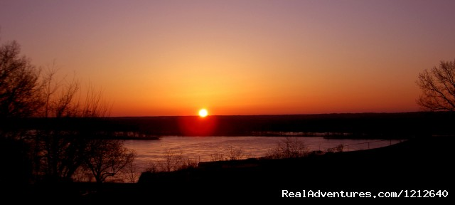 Here comes the sun (#2 of 2) - Award Winning Panoramic Mississippi River View