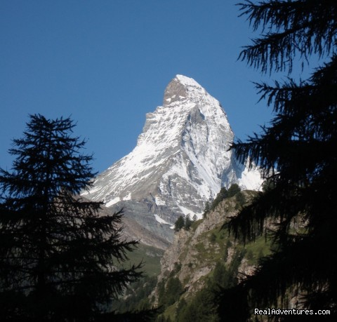 The Matterhorn at the end of our trip - Guided Treks In The Swiss Alps