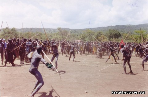DONGA - stick fight in Surma tribes - S. western Ethiopia - Edenland Tour and Travel Ethiopia