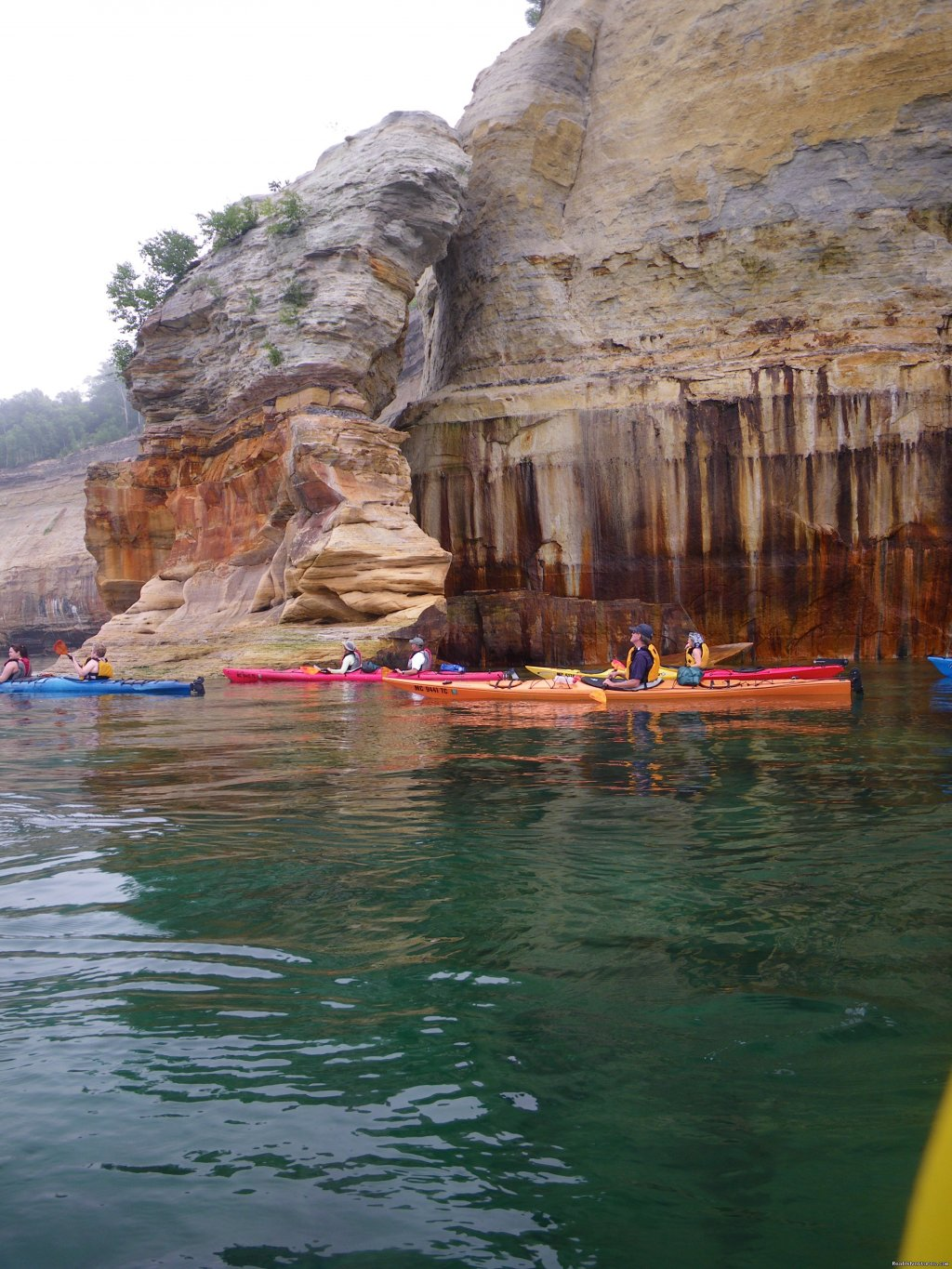 Pictured Rocks National Lakeshore | Image #1/25 | Marquette, Michigan  | Kayaking & Canoeing | Sea Kayaking the Pictured Rocks National Lakeshore