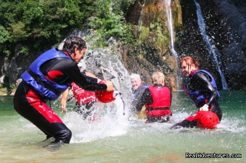 Water splash after canyoning tour (#2 of 21) - Adventure Croatia Week - low budget edition
