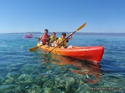 Sea kayaking in Brela - Adventure Croatia Week - low budget edition