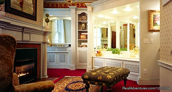 Captain's Merchant Suite Bath - Captain Lord Mansion, an intimate Maine Coast B&B