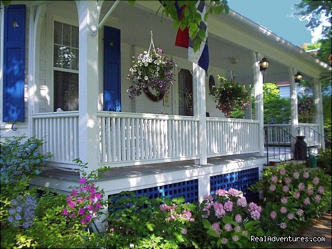 Main Victorian House Porch - Atlantic Birches Inn