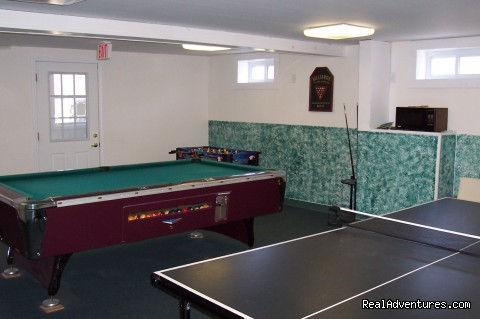 Game Room with pool, ping pong, foosball - Lots To Do at Beautiful Lakeside Resort