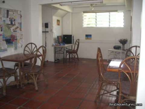 Dining Area - Barbados on a budget