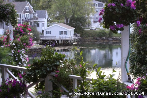 Harbour Towne Inn, deck view - Boothbay HarborHarbour Towne Inn on the Waterfront