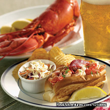 Boilded lobster or Lobster Roll? Ok, I'll have both (#19 of 26) - Boothbay HarborHarbour Towne Inn on the Waterfront