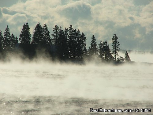 Early morning walk, enjoying the sea smoke before preparing. - Boothbay HarborHarbour Towne Inn on the Waterfront