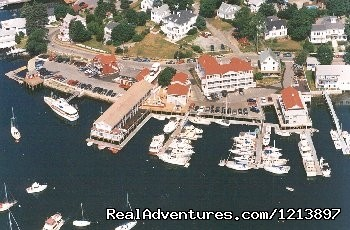 Aerial View of the Tugboat Inn & Marina (#15 of 18) - Getaway to the Coast at the Tugboat Inn